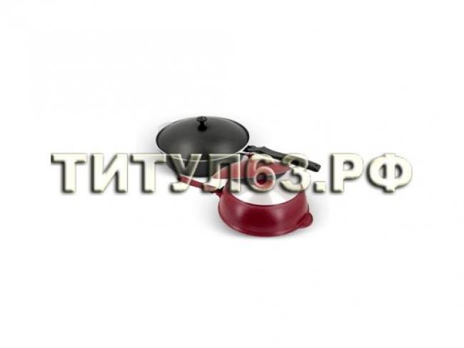 Сковорода-сотейник 260/75мм бордо ДП с268б литой алюминий без А/П