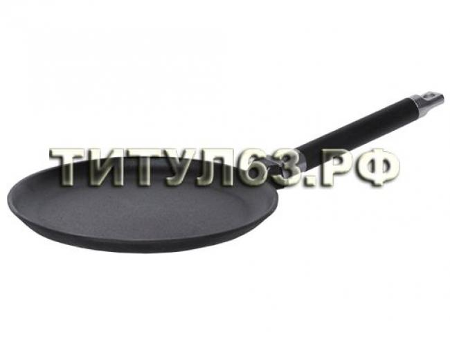 Сковорода чугунная д.240 блинная со съемной ручк. без крышки