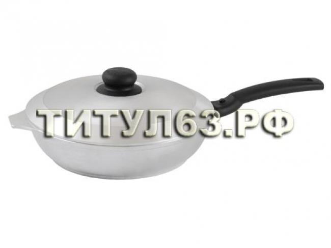 Сковорода 240/60 мм со съемной ручкой,с крышкой с248
